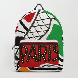 Vintage Paris France Travel Backpack