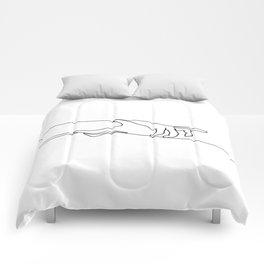 Line Holding Hands Comforters