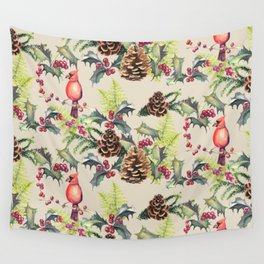 Repeating Pinecone Pattern Wall Tapestry