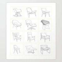 Just The Chairs Art Print