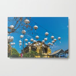 Lanterns in Hoi An, Vietnam Metal Print