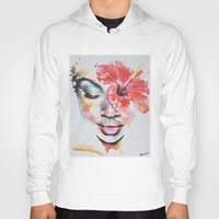 hibiscus Hoodies featuring Hibiscus by Maria Lozano - Art