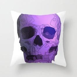 Skull - Violet Throw Pillow