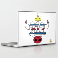 chicago bulls Laptop & iPad Skins featuring Chicago Pride Bulls by TyRex Creations