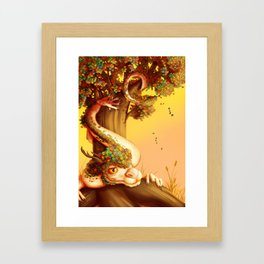 Autumn dragon Framed Art Print