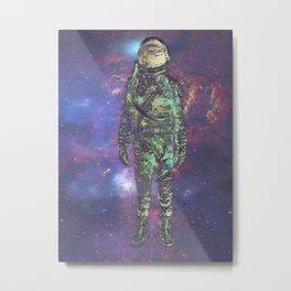 Silver Spaceman Metal Print