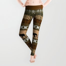 African Elephant Pattern Leggings