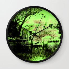 Green Spooky Boathouse Wall Clock