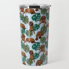 Tropical Redbone Coonhound Travel Mug