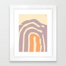 Purple Mountain Framed Art Print