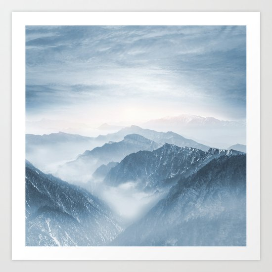 Cross Mountains Art Print