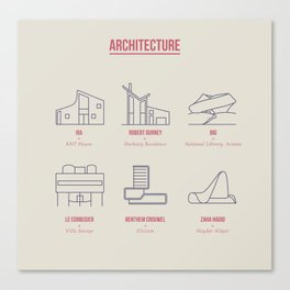 Architecture Line Design Canvas Print