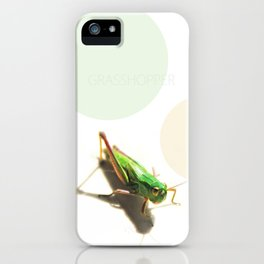 Insect Portrait | Grasshopper iPhone Case