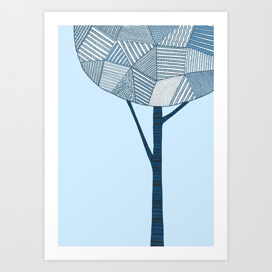 Winter Tree Art Print