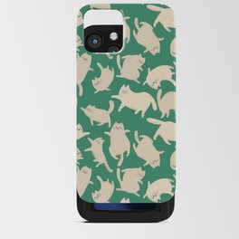 White Cats Pattern iPhone Card Case