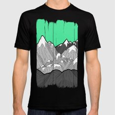 Green Sky Mounts Mens Fitted Tee MEDIUM Black