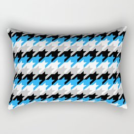 Neon Goth Houndstooth Pattern (Blue) Rectangular Pillow