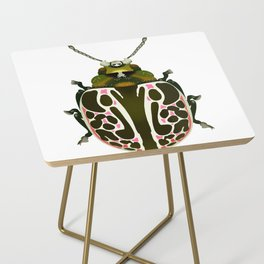 Green, White, Pink Beetle Side Table