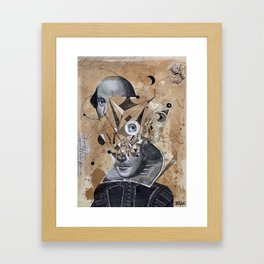 SHAKESPEARE AS AN ABSTRACT CONCEPT Framed Art Print