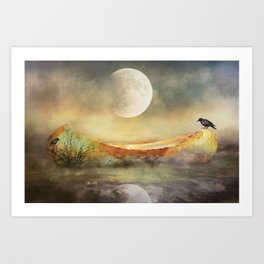 By the Light of the Crow Moon Art Print