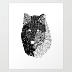 Wolf Mask Art Print