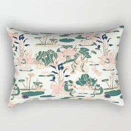 Asian garden party Rectangular Pillow