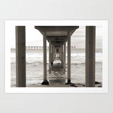 The Concrete Pier Art Print
