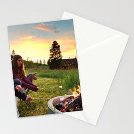 Wyoming Mountain S'mores Stationery Cards