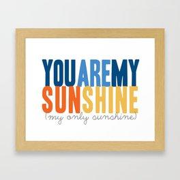 {sunshine-blue} Framed Art Print