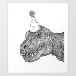 Party Dinosaur Kunstdrucke