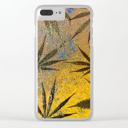 Cannabis leaves Clear iPhone Case