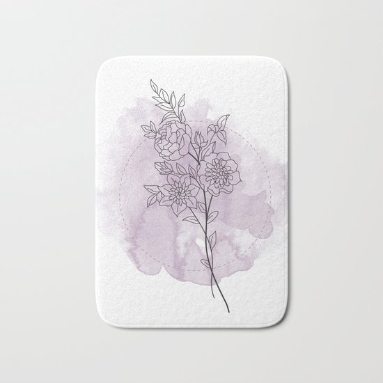 Floral mind 2.o Bath Mat