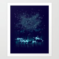 cosmic Art Prints featuring Cosmic Safari by dan elijah g. fajardo