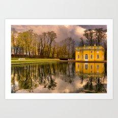 Tsarskoye Selo, Upper Bath, Russia Art Print