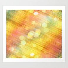 Fairy Dust / Pastel Bokeh Art Print