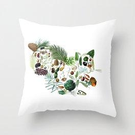Botanical Squiirel Throw Pillow