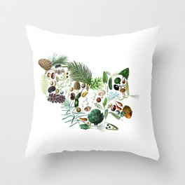 Botanical Squiirel Throw Pillow