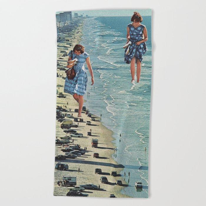 Walk on the Beach Beach Towel