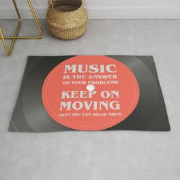 Music is the answer to your problems, dj gift Rug