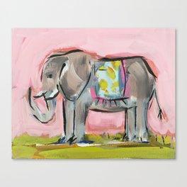 Elated Elephant Canvas Print