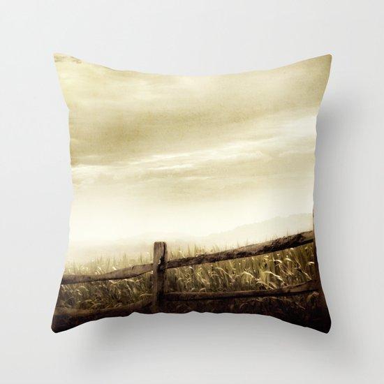Corn Sky Throw Pillow