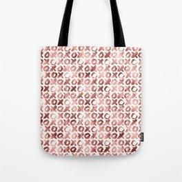 XOXO Kiss Me Rose Gold Pattern Tote Bag
