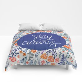 Stay Curious – Navy & Coral Comforters