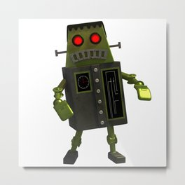 Frankbot Metal Print