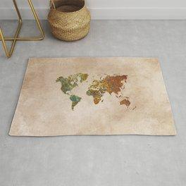 world map mandala pattern art Rug