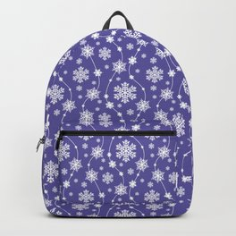 Purple Holiday Snowflake Pattern Backpack