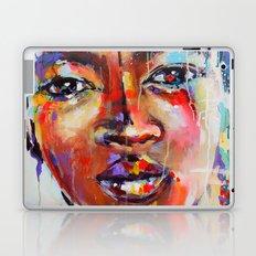 Closer - portrait of a beautiful woman Laptop & iPad Skin