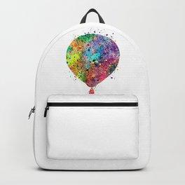 Hot Air Balloon Art Gift Colorful Watercolor Art Vintage Hot Air Balloon Decor Backpack