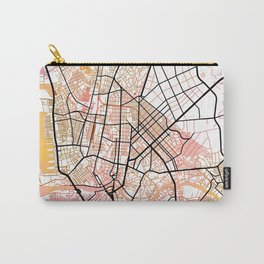 Manila Philippines Watercolor Street Map Color Carry-All Pouch