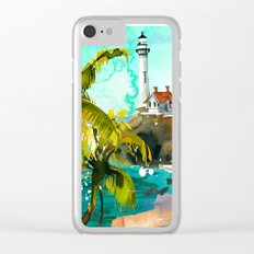 Seascape #4 Clear iPhone Case